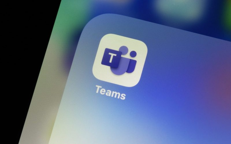 Ostersund, Sweden - July 17, 2020: Microsoft Teams app icon on a smartphone.. Teams is a unified team communication and collaboration platform with workplace chat, video meetings, and file storage.